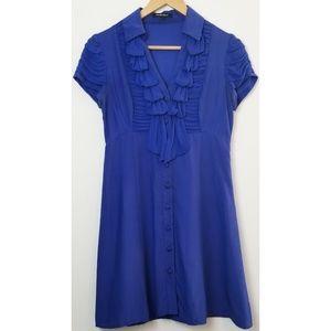 Nanette Lepore blue silk dress size 4